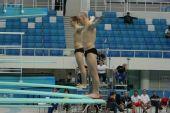 图文:跳水世界杯赛前选手训练 双人试跳