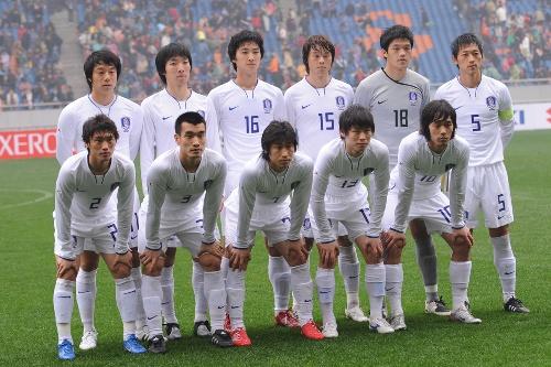 图文[四强赛]中国VS韩国 韩国首发阵容