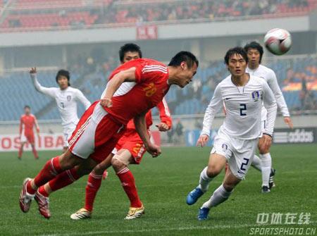 中国足球 中国国足 中国男足国家队 08东亚四强赛 精彩图片 中韩图辑