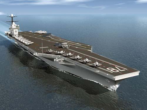 资料图:按照计划美国海军将以每四年一艘的速度生产CVN 21型航母