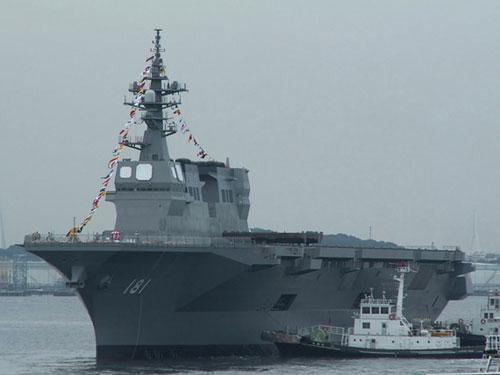 资料图:日本16DDH准直升机母舰下水
