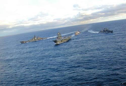 资料图:俄罗斯海军舰队和航母恢复远洋巡航