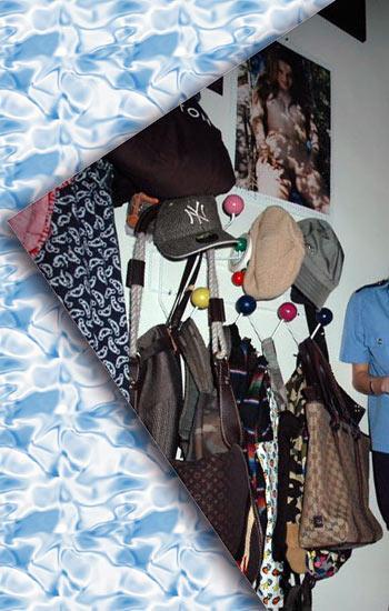这张图片中出现的宝贝个个不同凡响,纽约杨基的棒球帽,LV包包……