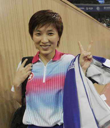 2008年世乒赛团体赛中国香港队 林菱