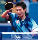 图文:2008年世乒赛团体赛中国香港队 梁柱恩