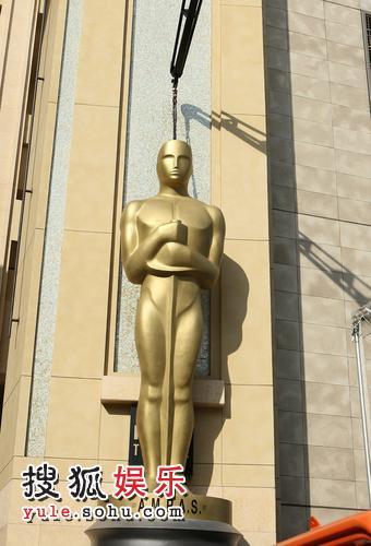 奥斯卡颁奖礼在即 现场准备工作有序进行