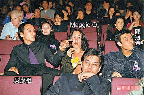 吴彦祖与陈冠希原本关系很好,却因陈冠希搭上他的女友MaggieQ致二人反目。