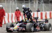 图文:[F1]巴塞罗那试车首日 库特哈德退出测试