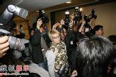 图:陈冠希发布会现场 一度发生混乱拥挤