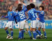 图文:[四强赛]日本VS韩国 享受进球快乐