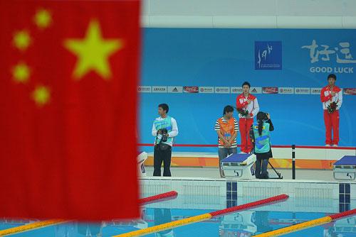 组图:男子三米板中国揽冠亚 捕捉选手搞笑表情图片