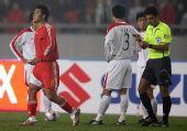 图文:[四强赛]国足3-1朝鲜 杜震宇红牌下场