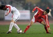 图文:[四强赛]国足3-1朝鲜 错位防守
