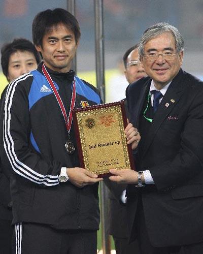 图文:[四强赛]颁奖典礼 日本队获得亚军