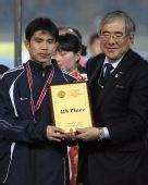 图文:[四强赛]颁奖典礼 朝鲜队位居第四