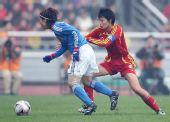图文:[四国赛]中国VS日本 李洁防守瞬间