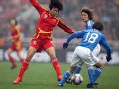 图文:[四国赛]中国VS日本 韩端遭夹防