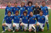 图文:[四强赛]中国0-3日本 日本赛前首发合影