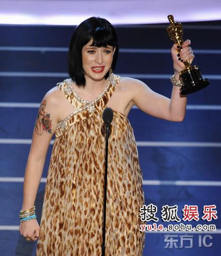图:现场 科蒂凭借《朱诺》获颁原创剧本奖