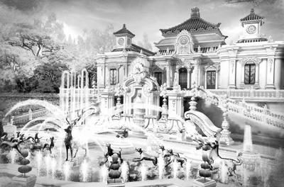 横店圆明园夏苑大水法喷泉
