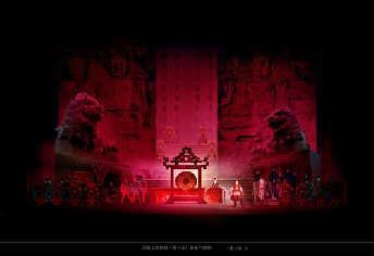 国家大剧院版歌剧《图兰朵》舞台效果