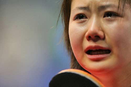 福原爱赛后激动落泪