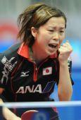 图文:日本女团3-2击败韩国 选手庆祝得分
