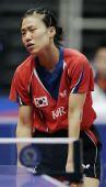 图文:日本女团3-2击败韩国 韩国选手沮丧失败