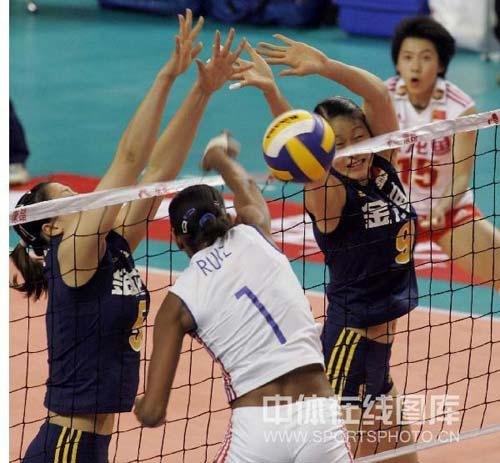 中国队双人拦网