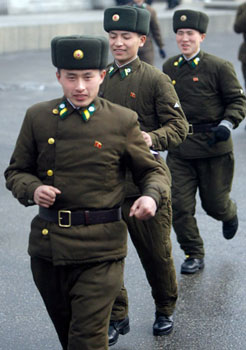 平壤军人。