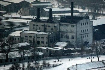 平壤市的一处工厂。