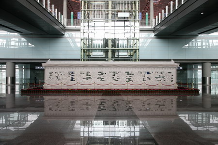 "T3航站楼中的""九龙壁"""