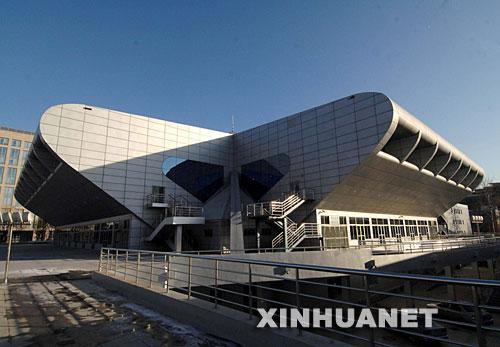 北京航空航天大学体育馆外景(2007年12月13日拍摄)。