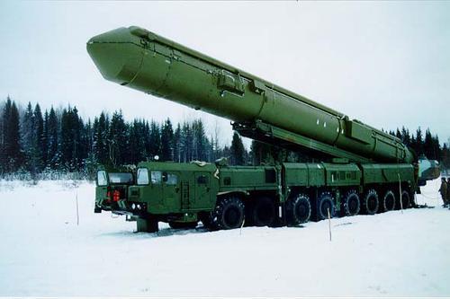 """资料图:""""白杨-M""""战略导弹"""