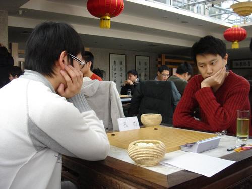 图文:[围棋]名人战本赛首轮 焦点战孔杰VS刘星