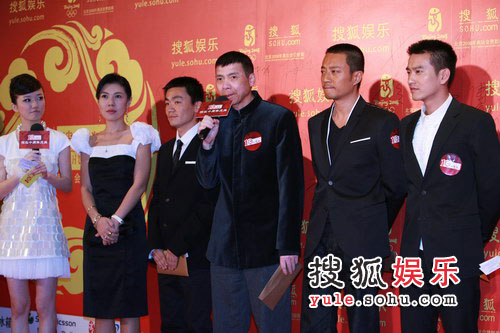 图:搜狐十年庆典红毯 冯小刚携《集结号》主创