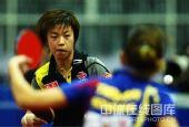 图文:女团3-0罗马尼亚晋级4强 张怡宁经典表情