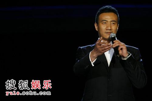 图:搜狐十年庆典现场 胡军致辞