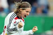 图文:[女足]中国0-2德国 温伯斯基庆祝