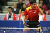 图文:中国男乒3-0战胜中国香港 握拳高声呐喊