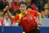 图文:中国男乒3-0战胜中国香港 比赛展露英姿