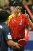 图文:中国男乒3-0战胜中国香港 轻松取胜唐鹏