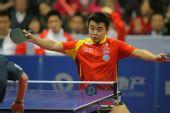 图文:中国男乒3-0战胜中国香港 王皓大鹏展翅