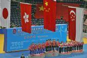 图文:世乒赛中国队成功卫冕 升旗仪式马上开始