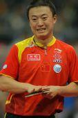 图文:男团决赛马琳3-1柳承敏 马琳很开心