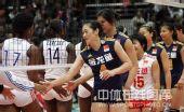 图文:中国女排3-2古巴六连胜 赛后握手致意