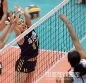 图文:中国女排3-2古巴六连胜 马蕴雯奋力拦网