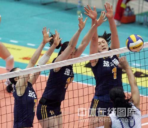 中国队拦网三防一