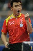 图文:世乒赛团体赛最兴奋庆祝 王皓挥拳怒吼