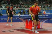 图文:世乒赛团体赛最兴奋庆祝 王皓狮子吼